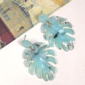 Jewelry - Acrylic Resin Leaf Dangle Drop Earrings